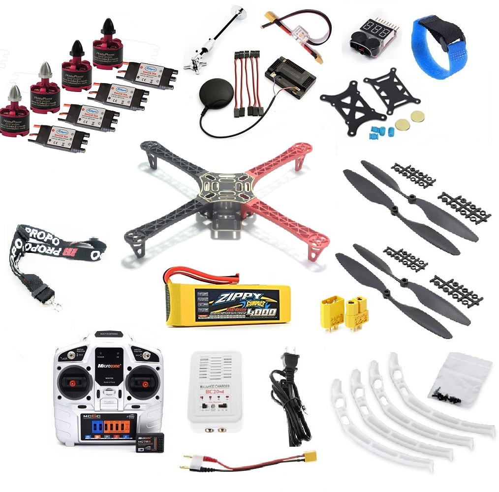 F450-Quadcopter-Frame-Integrated-PCB-4-axis-font-b-Arm-b